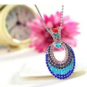 ON SALE - Illusions Multi-Colored Crystal Turkish Eye Pendant Necklace
