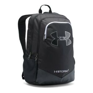Backpack Under Armour Boys' Storm Scrimmage Backpack Black (001)Silver One Size