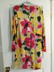 Marni women's dress made in Italy Asymmetric design and bold pattern size  ML