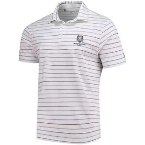 Under Armour WhiteGray 2018 Ryder Cup Stripe 2.0 Performance Polo