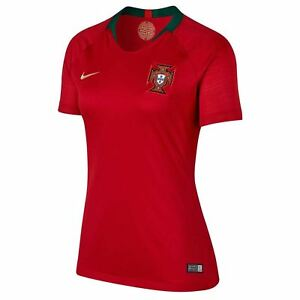 Nike Portugal Home Jersey 2018 Womens Red Football Soccer Top Shirt Strip