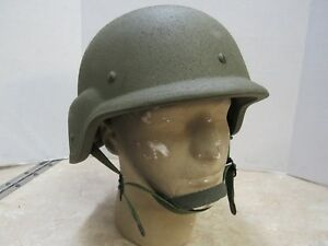 USGI MADE WITH KEVLAR HELMET SIZE LARGE PASGT L8 1985 DATE UNICOR EARLY ISSUE