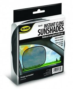 2 Instant Cling Sunshades Car Window Shade Baby Kids Sun UV Side Eyes Protect $9.99
