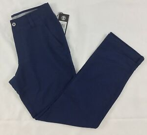 Under Armour Men's Golf Loose Pants Straight 1248089 Navy Blue 408 Size 34  32