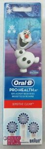 6 Oral-B Pro Health Sensitive Replacement Toothbrush Heads for Kids Olaf Frozen