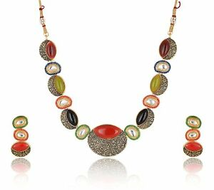 Beads Brass Strand Necklace Set for WomenGirls Wedding Traditional