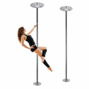 45mm Fitness Exercise Spinning Static Dance Pole Stripper Strip Portable 440lbs!