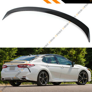 FOR 2018-2019 TOYOTA CAMRY PAINTED GLOSS BLACK SPORT REAR TRUNK LID SPOILER WING