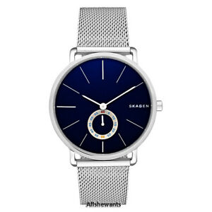 NEW SKAGEN WATCH Men * Hagen Blue Dial * Silver Mesh Bracelet SKW6230 MSRP $195