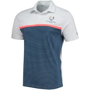 Under Armour WhiteNavy 2018 Ryder Cup Playoff Super Stripe Performance Polo