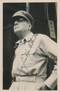 DOUGLAS MAC ARTHUR SIGNED PHOTO CLARK AIR FIELD PHILIPPINES 291945 HW4296