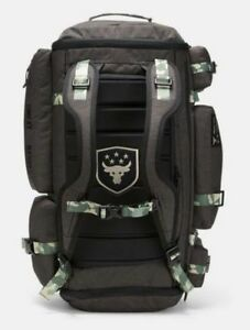 Under Armour UA Project Rock Respect  Regiment CAMO Range Duffle Bag Backpack