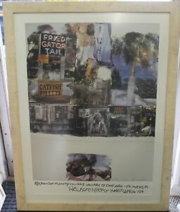 ROBERT RAUSCHENBERG Double Signed Authentic Poster  Edison Community College
