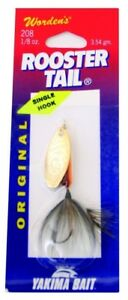 Wordens Single Hook Rooster Tail Lure 1240ml Brown Trout. Unbranded