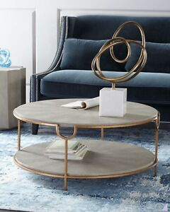 Regina Andrew Design Chaz Tiered Coffee Table Shagreen Neiman Marcus Horchow