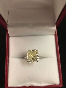 Tiffany & Co. Designer Style Ring 4 Cts Fancy Yellow Diamond GIA $105K Value!!