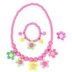Kids Necklace Jewellery - Set For Little Girls Toddlers Children - Colourful
