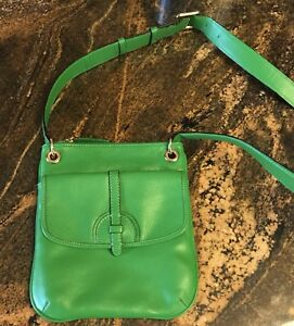 NEW! ISAAC MIZRAHI Designer Handbag Green Crossbody!
