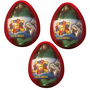 New 3 LEGO EGGO surprise Egg With LEGO And Candy