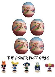 NEW 5 POWERPUFF GIRLS SURPRISE EGGS WITH 3D FIGURE IN EACH EGG