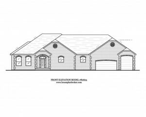 Custom Home house design blueprints 2624 sq. ft. with RV or boat garage