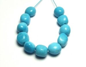 11 pcs SLEEPING BEAUTY TURQUOISE 6-7mm Semi-Round Nugget Beads n5