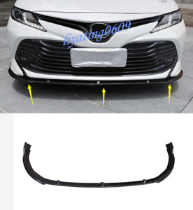 3PCS Carbon Fiber Style Front Bumper Cover Trim Molding For Toyota Camry 2018