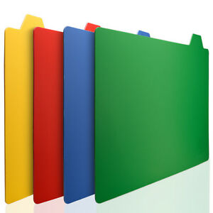 Kessaku Tabs Index Cutting Board 4 Piece Mat Double Thick 2mm Non-Slip