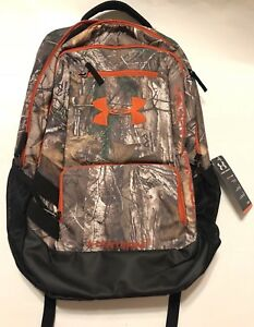 UNDER ARMOUR UA STORM REALTREE CAMO HUSTLE ADULT WATER REPELLENT BACKPACK NWT