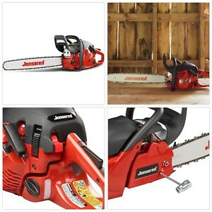 Gas Chainsaw Heavy Duty Trimmer Outdoor Cutter Adjustable Chain Variable Speed