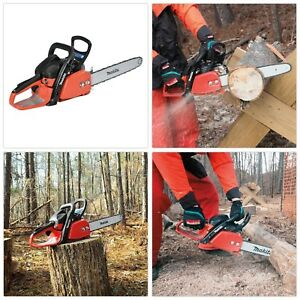 Gas Chainsaw Rear Handle Trimmer Outdoor Cutter Adjustable Chain Variable Speed