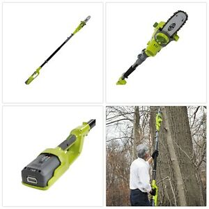 Electric Pole Saw Cordless Light Weight Outdoor Trimmer Cutter Adjustable Height