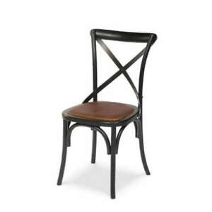 Birch Curved Wood Painted Dining Chair With Shanghai Black Finish