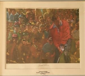 Arnold Palmer Signed and Numbered Framed Lithograph $325.00