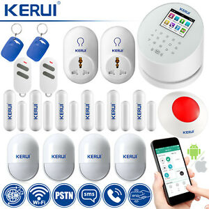 KERUI W2 WiFi PSTN GSM SMS RFID Home Security Alarm System Wireless Smart Socket