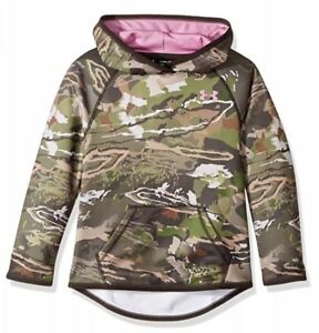 New Under Armour Girl's Icon Camo Hoodie