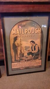 Chew Mail Pouch Tobacco Colonial Bullets Framed Advertisement