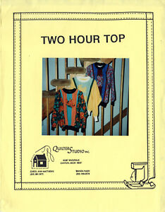 quot;Two Hour Topquot; UNCUT QuilterStudio Sewing Sewing Pattern Misses#x27; S M L XL $9.99