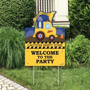 Construction Truck - Party Decorations - Birthday Party or Baby Shower Welcome