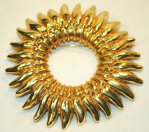 DESIGNER ENRIGHT EROTAS SUNBURST BROOCH  PIN IN 18K YELLOW GOLD -$20K VALUE