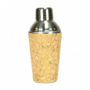 17cm Fashion Avenue Cork & Stainless Steel Mini Martini Cocktail Shaker