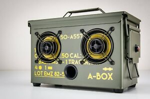 Ammo Can Boombox Bluetooth Speaker Thodio 9MM A-BOX Portable Amplifier