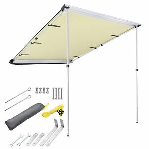 4.6x6.6#x27; Car Side Awning Rooftop Tent Sun Shade SUV Outdoor Camping Travel Beige