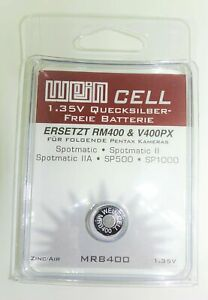 Wein Cell Mercury Replacement PX400 Battery 1.35V Pentax Spotmatic SP500 SP1000
