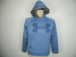 Like New Girls Under Armour Storm Blue Jumper Hoodie Size YLG Large C04