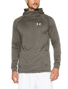 (2X-Large Carbon Heather) - Under Armour Men's Tech Terry Fitted Po Hoodie