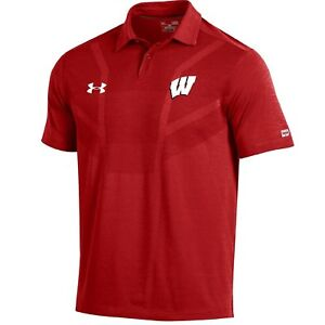 (Wisconsin Badgers XX-Large) - NCAA Men's Under Armour Sideline Coach's Polo