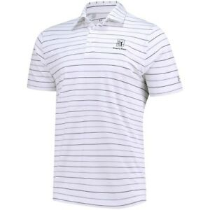 Under Armour TPC River's Bend White Performance Stripe 2.0 Polo
