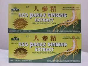 2  Boxes ROYAL KING PREMIUM RED PANAX GINSENG EXTRACT 30 BOTTLES/BOXE US SELLER