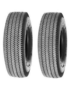 Pack of 2 Deli Tire 4.10 3.50 4 Sawtooth 4 Ply Tubeless Lawn Garden Tires $31.99
